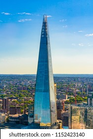 The Shard, also called as the Shard of Glass, Shard London Bridge and formerly London Bridge Tower, is a 95-story skyscraper - London, England, 3 August 2018