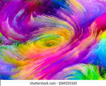 Shards of colorful fractal paint for abstract backgrounds