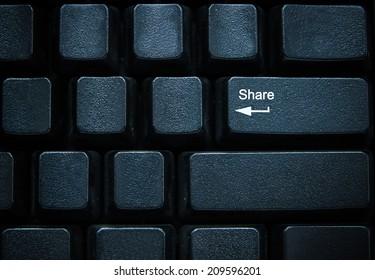 Share button on computer keyboard