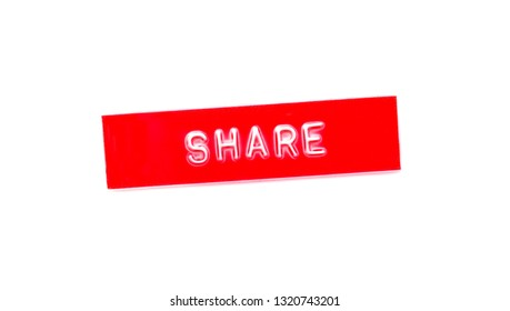 share embossed word on plastic tape