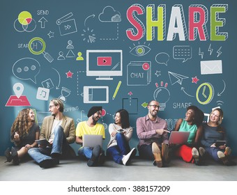 Share Feedback Exchange Networking Information Concept