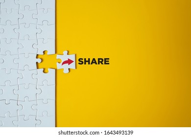 Share icon. Notification and social media concept.