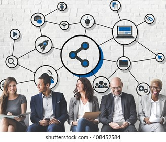 Share Icon Social Media Connection Concept