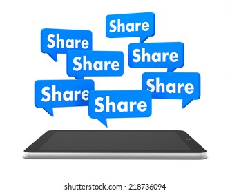 share and tablet 3d