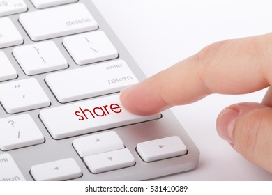 Share word written on computer keyboard.