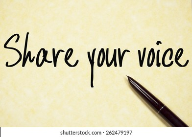 share your voice text write on paper