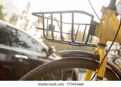 A shared bike in the city