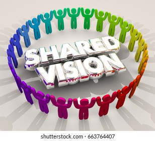 Shared Vision Common Goal Mission Purpose People 3d Illustration