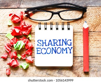 Sharing Economy or note business concept