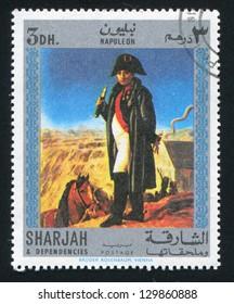 SHARJAH AND DEPENDENCIES - CIRCA 1972: stamp printed by Sharjah and Dependencies, shows Napoleon, circa 1972