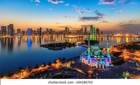 Sharjah Lighting Festival Sunset
