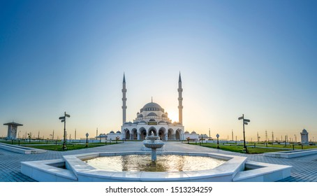 Sharjah New Mosque Tourist Destination in Dubai Arabic Letter means: Indeed, prayer has been decreed upon the believers a decree of specified times