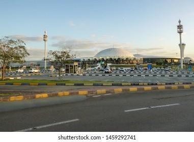 Sharjah, UAE - February 18 2019: Sharjah International Airport in United Arab Emirates