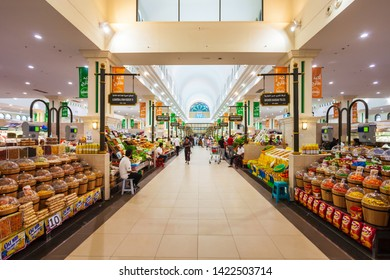 SHARJAH, UAE - MARCH 01, 2019: Souq al Jubail or Jubail Souk is a market located in the centre of Sharjah city in United Arab Emirates or UAE