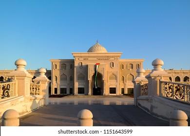 Sharjah, UAE - November 27, 2017: The university of Sharjah, UAE