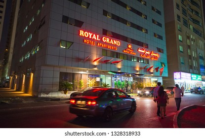 SHARJAH, UAE - NOVEMBER 4: Royal Grand Suite Hotel. Hotel has 136 guestrooms. Guests can use the in-room complimentary wireless high-speed Internet access on November 4, 2013.
