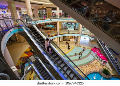 SHARJAH, UAE - OCTOBER 29, 2013: Central Souq Mega Mall of Sharjah . It is one of largest malls in UAE at 800,000 sq. ft.