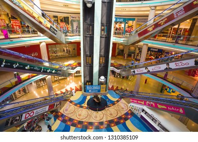 SHARJAH, UAE - OCTOBER 29, 2013: Central Souq Mega Mall of Sharjah opened on December 2001 and becoming one of leading retail and leisure destinations in UAE. (800,000 sq. ft.)