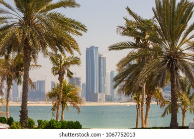 SHARJAH, UAE - OCTOBER 31: Sharjah - third largest and most populous city in United Arab Emirates, on October 31, 2013.  It is the most industrialized emirate in UAE.