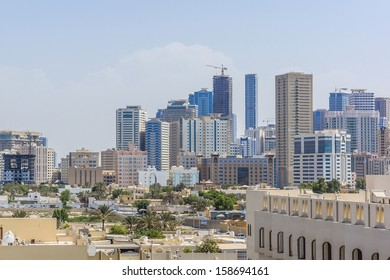 SHARJAH, UAE - SEPTEMBER 27: Sharjah - third largest and most populous city in United Arab Emirates, on September 27, 2012. Sharjah is located along northern coast of Persian Gulf on Arabian Peninsula
