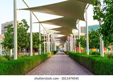 Sharjah, UAE, September 4, 2020. AL Majaz Park in Buhairah cornishe.