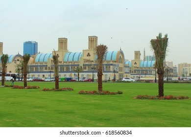 SHARJAH, UNITED ARAB EMIRATES - March 21, 2017: The Central Souk (differently Blue Souk or Gold souk) - market in Sharjah.