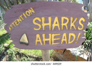 Sharks Ahead sign