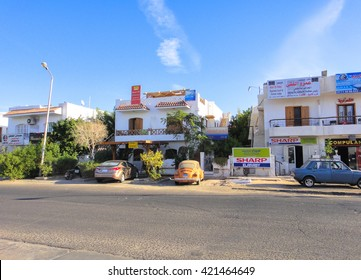 SHARM EL-SHEIKH/EGYPT - NOVEMBER 7 2014: Street in Sharm el-Sheikh