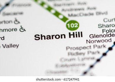 Sharon Hill Station. Philadelphia Metro map.