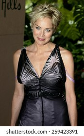 Sharon Stone at the 2004 Crest Whitestrips Style Awards held at the Beverly Hills Hotel in Beverly Hills, California United States on June 16 2004.