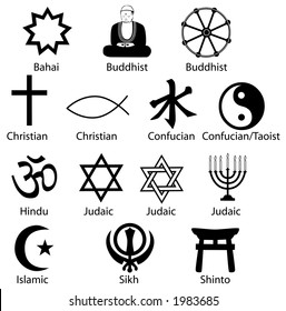 Sharp clean render, symbols make excellent icons. Is Comparative Religion your subject? Syncretist? Polytheist? Your Symbols Of Contemporary World Religions are ready.
