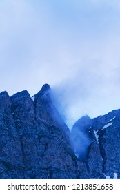 Sharp cliffs over the San Bernardino pass