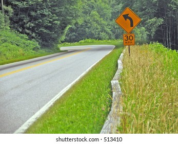 sharp curve ahead