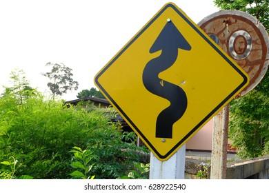 Sharp curve symbol