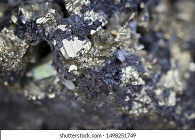 Sharp macro close-up image of zinc and lead blend ore nugget suitable for illustrating treasure value concepts
