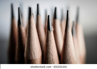 Sharpen pencils close-up background.