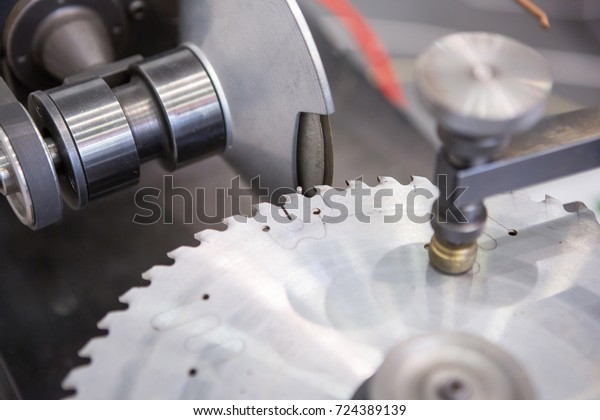 Sharpening Circular Saw Blade Stock Photo (Edit Now) 724389139