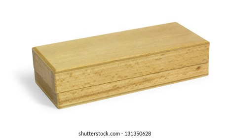 a sharpening stone in wooden box