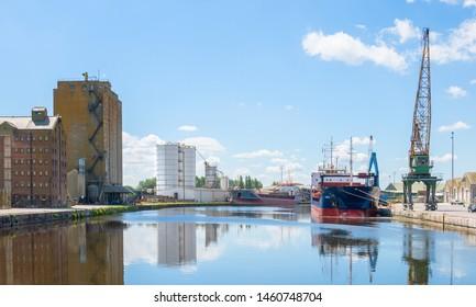Sharpness, United Kingdom - May 2019: Sharpness Docks in Gloucestershire, United Kingdom