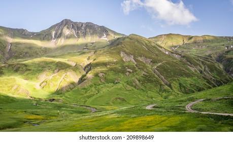 Shatili Valley in Georgia, Caucasus.