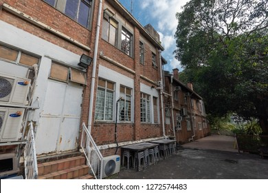 Shatin, Hong Kong - DEC 29 2018: High Rock Centre in Hong Kong. Built in 1924, former polic station, Japanese army command center and Orphanage.