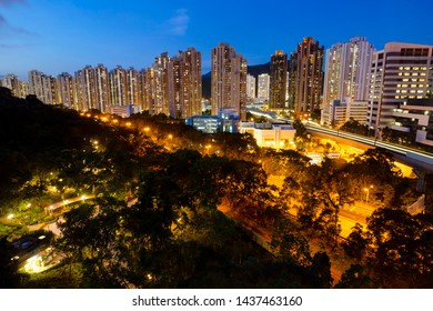 SHATIN, HONG KONG - Jun 30: The Shatin district in Hong Kong on Jun 30, 2019. It is one of Hong Kong's most prominent examples of new town developments and the most populous city in new territories.