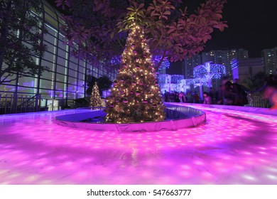 Shatin town plaza market square lights up for the 2016