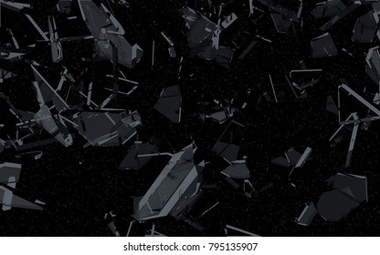 Shattered Glass in Space