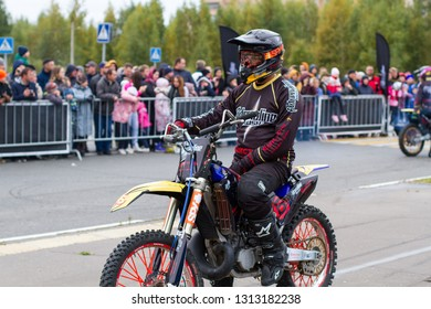 SHATURA, MOSCOW REGION, RUSSIA - OCTOBER 1, 2017: Adrenaline Rush FMX