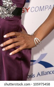 Shaun Robinson's Jewelry at the 8th Annual Comedy for A Cure, a Benefit to raise Funds and Awareness for the Tuberous Sclerosis Alliance. Boulevard3, Hollywood, CA. 04-05-09