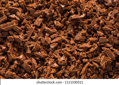 Shaved chocolate background