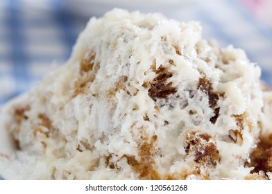 Shaved Ice dessert with Brown Sugar and Condensed Milk
