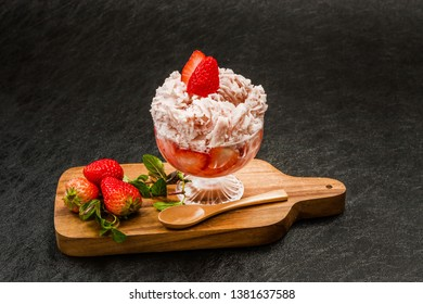 Shaved ice that Asian fruit