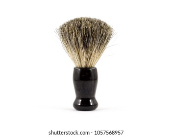 Shaving brush for men.  Brush to apply shaving cream - isolated